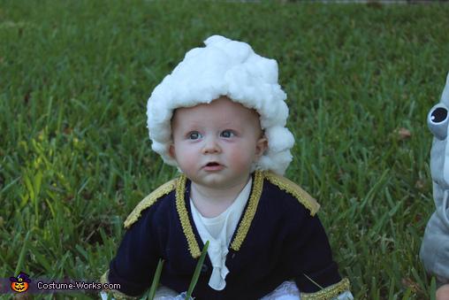 George Washington Baby Homemade Costume