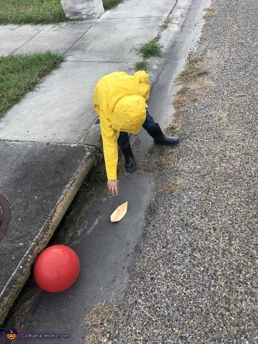 Following his boat, Georgie from IT Costume