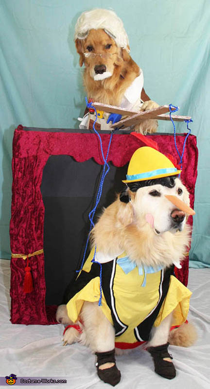 Gepetto and Pinocchio - Homemade costumes for pets
