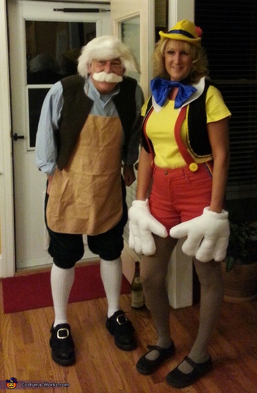 Geppetto has a son, Geppetto and Pinocchio Couple Costume