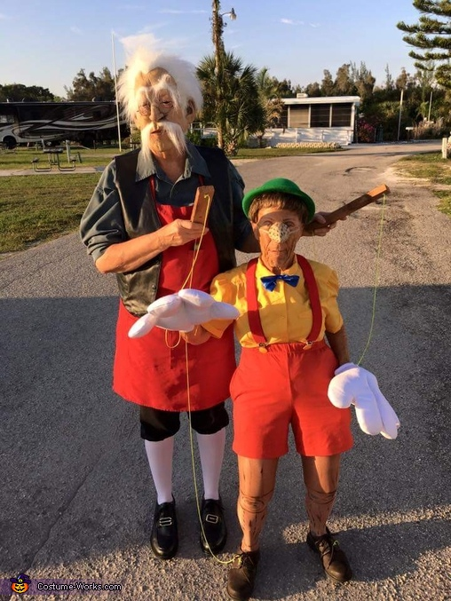 Geppetto and Pinocchio Costume