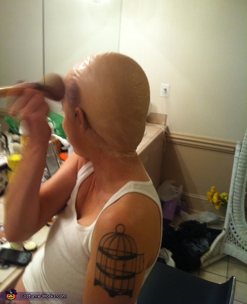 Getting ready. Carl from Aqua Teen Hunger Force - Homemade costumes for women