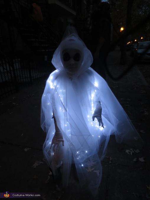 DIY LED Lights Ghost Costume