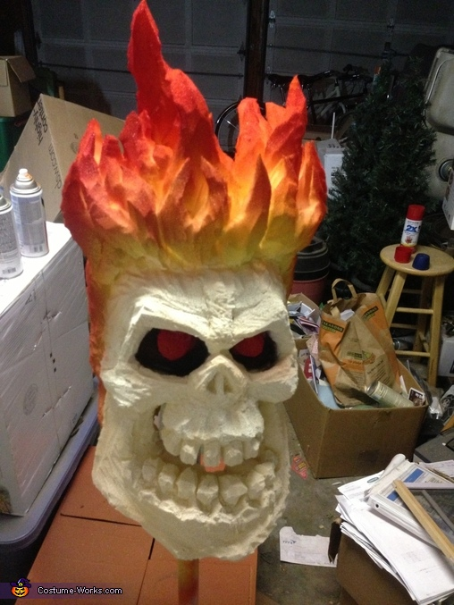 Post painting, Ghost Rider Costume