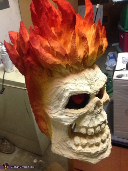 Side angle, Ghost Rider Costume
