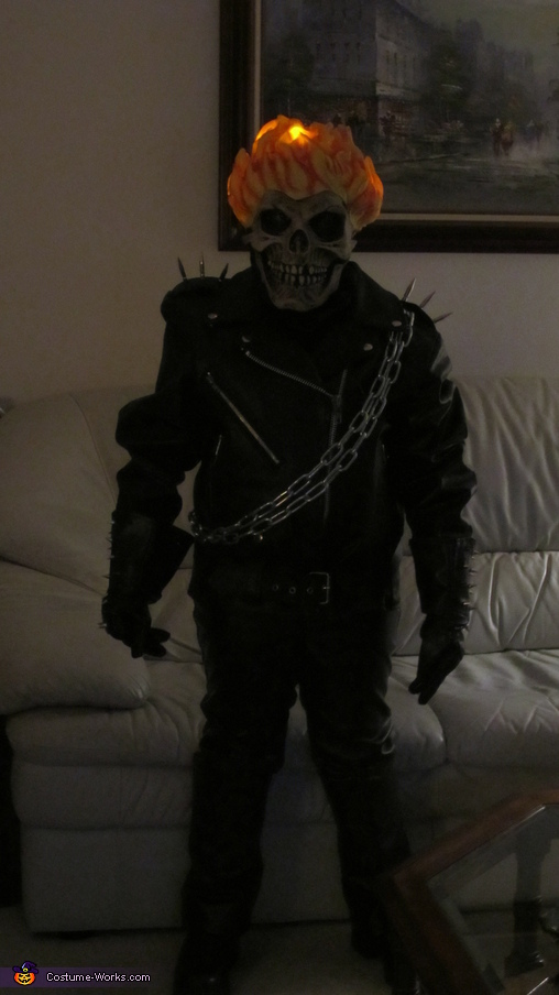 A more clear view of flikering flames., Ghost Rider Costume