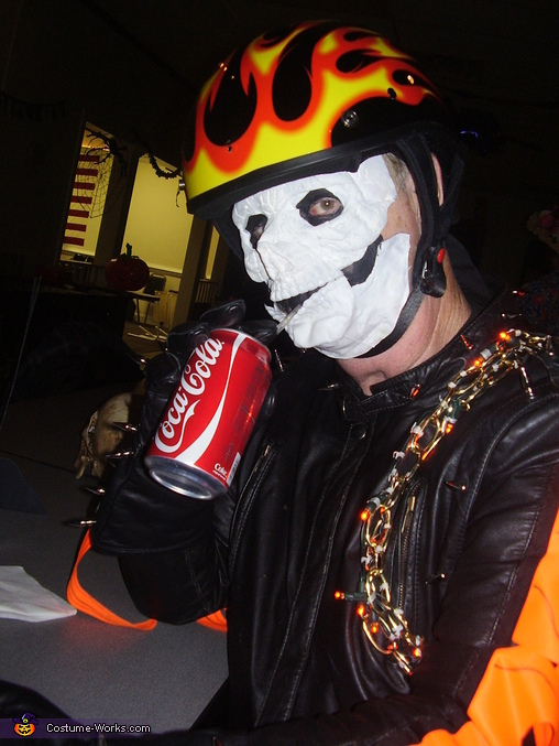 Ghost Rider drinking a Coke, Ghost Riders Costume