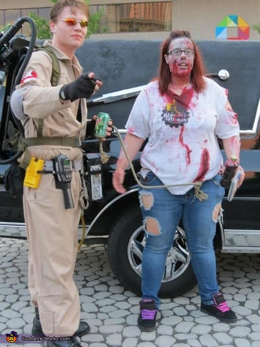 Yea we busy zombies too, Ghostbuster Costume