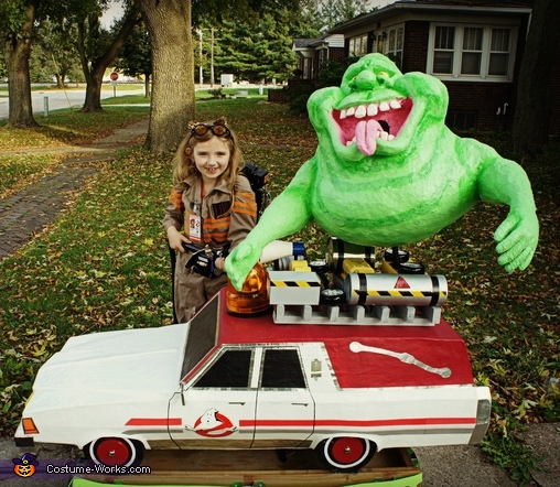 Ghostbuster with Slimer and the Ecto-1 Costume