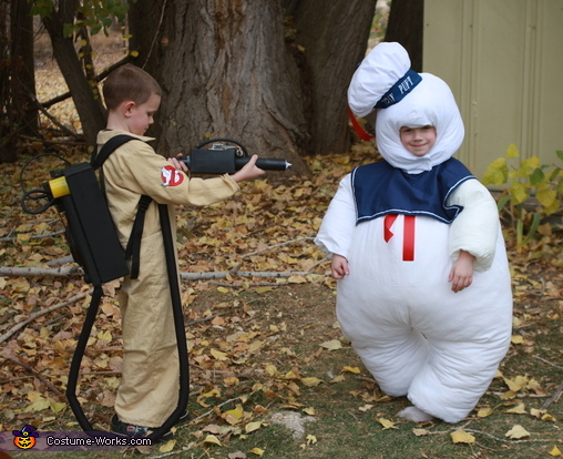 Stay Puft Marshmallow Man and Ghostbuster Costume