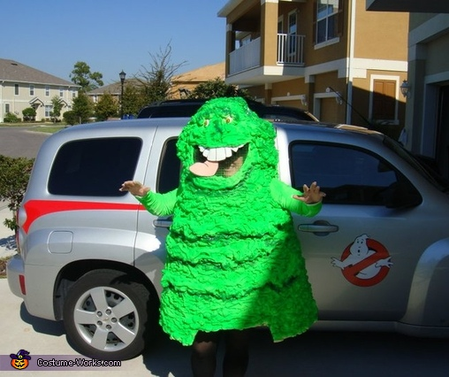 Ghostbusters and Slimer Group Costume