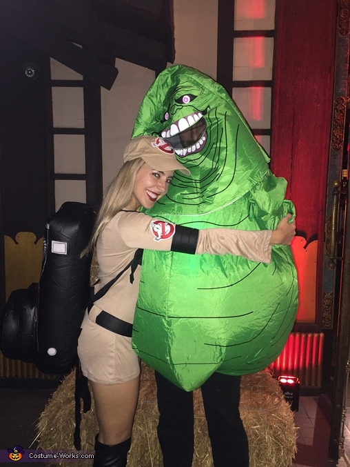 A girl and her slime, Ghostbusters Family Costume