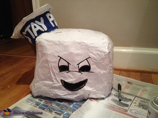 Create Of Head, Ghostbusters Stay Puft Marshmallow Man Costume