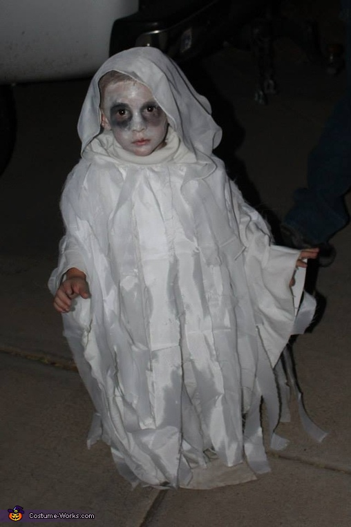 Ghostly Boy Homemade Costume
