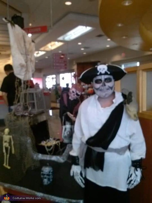 Ghostly Pirate and his Haunted Ship Homemade Costume