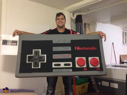 finished product, Giant Nintendo Costume