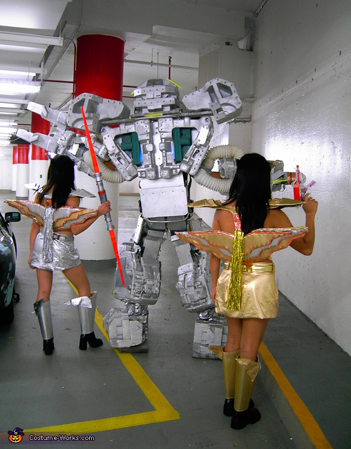 I also made the Spacegirl Warrior costumes, Giant Robot Costume
