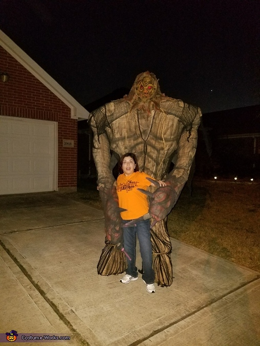 My wife is trapped., Giant Scarecrow Swamp Monster Costume
