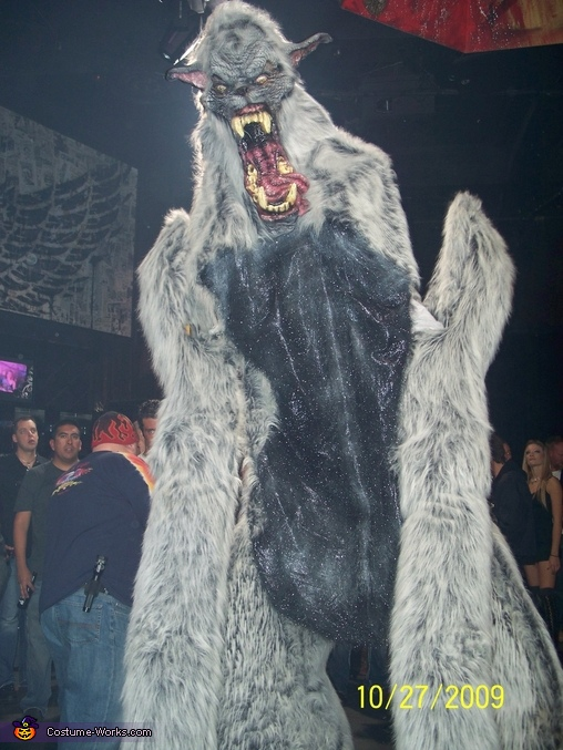 towering over the crowd, Giant Werewolf Costume