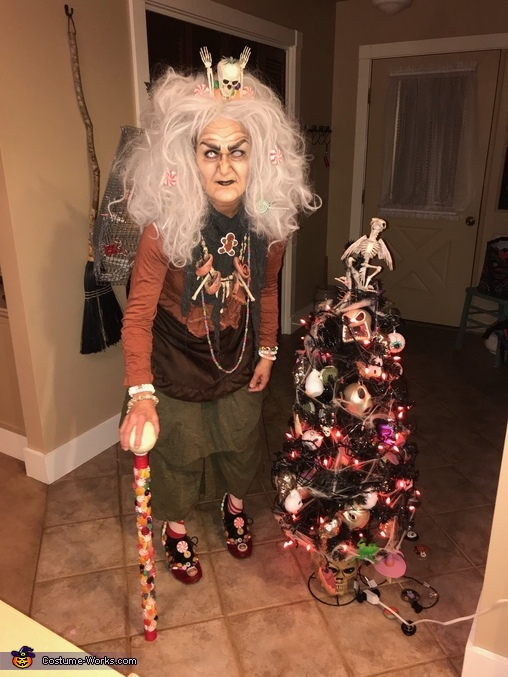 Full body shot, Gingerbread Hag from Hansel & Gretel Costume