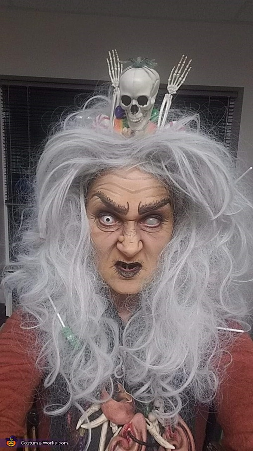 Wicked face shot, Gingerbread Hag from Hansel & Gretel Costume