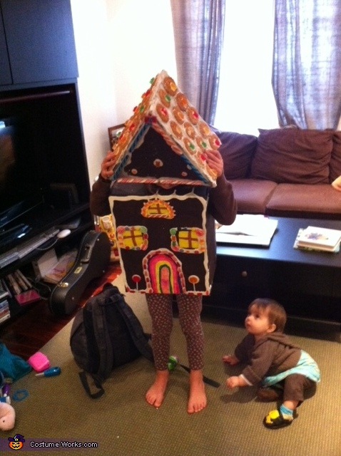 Watch out! Baby sister wants candy!, Gingerbread House Costume