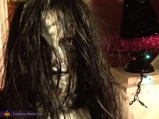 close-up, Girl from The Ring Costume
