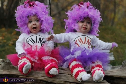 Girly Thing 1 and Thing 2 Homemade Costume