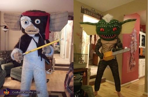 Gizmo transforms into Gremlin Costume