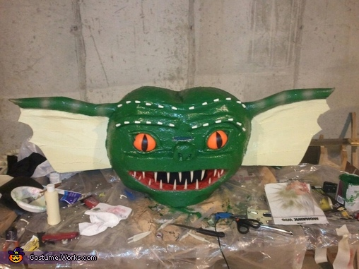 Step 5 Making the Gremlin head, Gizmo transforms into Gremlin Costume
