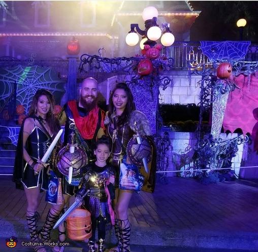 Gladiator Family Homemade Costume
