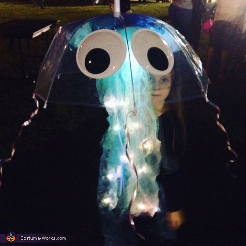 All lit up at night, Glowing Jellyfish Costume