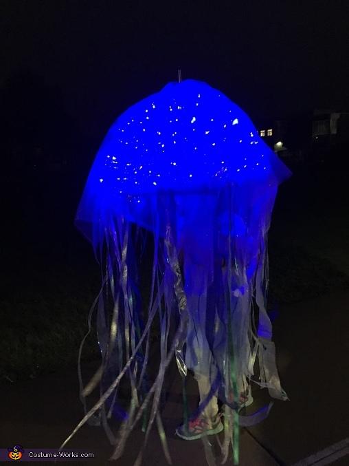 Jellyfish at night, Glowing Jellyfish Costume