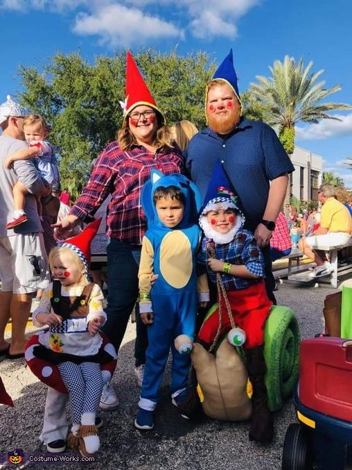 Gnome riding Snail Homemade Costume