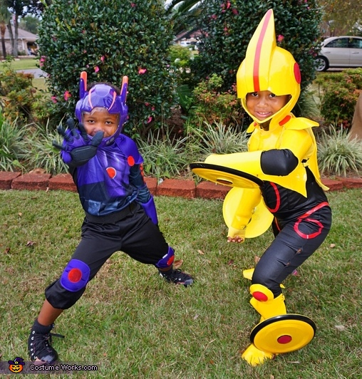 My daughter and son as Hiro(store bought) and Gogo(homemade), Gogo Tomago Costume