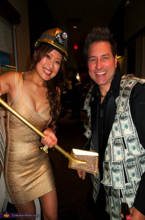 Gold Digger and Sugar Daddy Homemade Costume