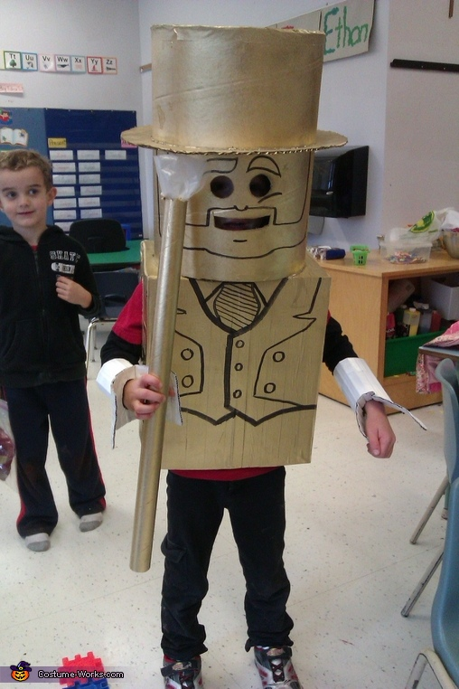 Gold Lego Man Costume