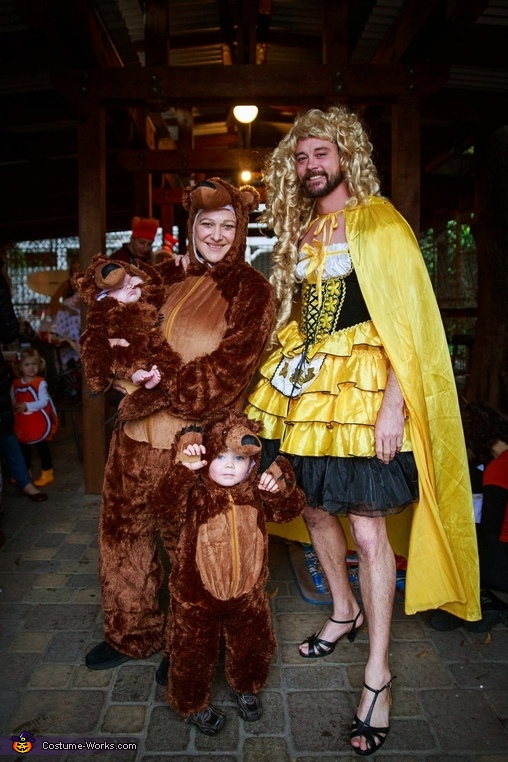Goldilocks and the 3 Bears Family Homemade Costume