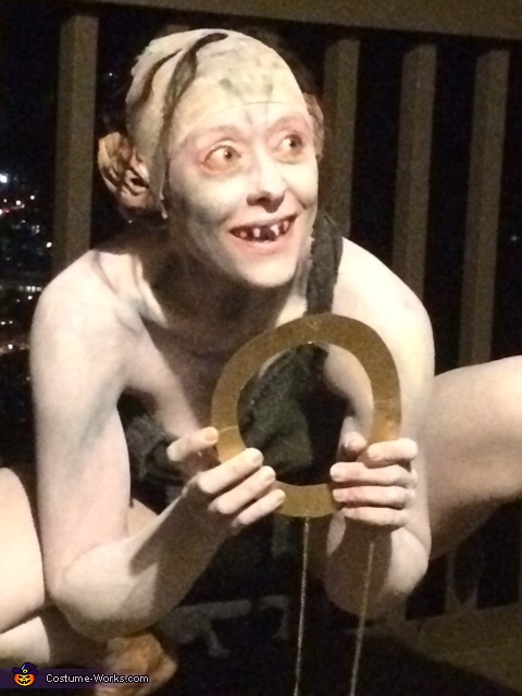 Gollum with Ring Close Up, Gollum Costume