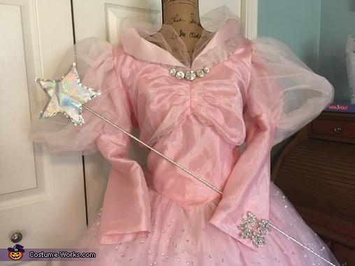 Dress on display in my Wizard of Oz room, Good Witch Glenda Costume
