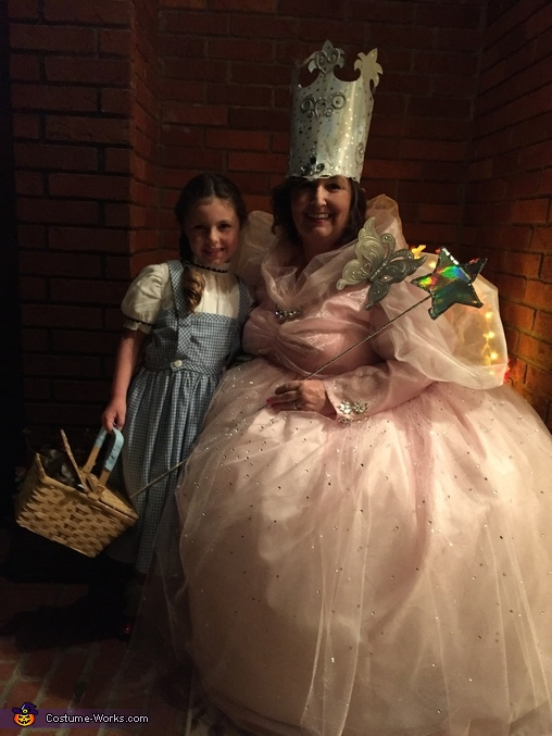 Treating Trick or Treaters Dorthy shows up, Good Witch Glenda Costume