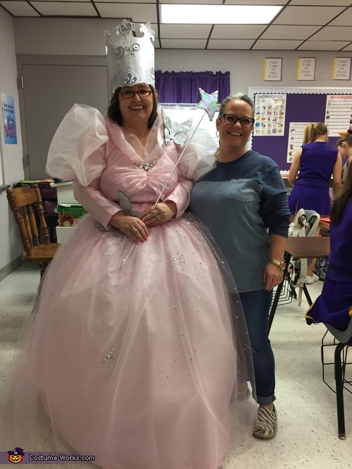 At school going around visiting teachers and students, Good Witch Glenda Costume