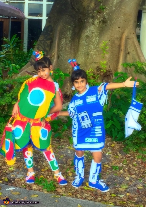 Google Chrome and Facebook Costume