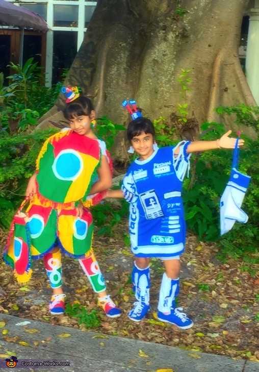 Google Chrome and Facebook Homemade Costume