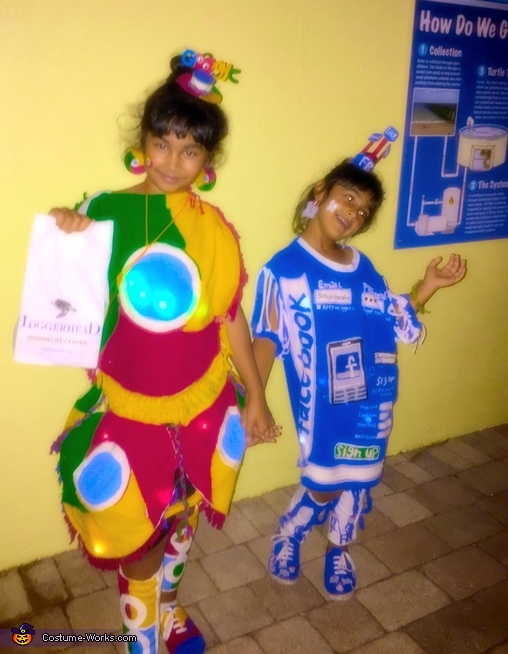Google Chrome and Facebook Homemade Costume