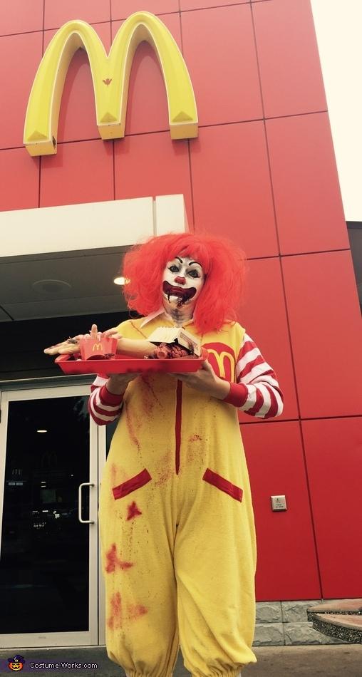 Gory Ronald McDonald Costume