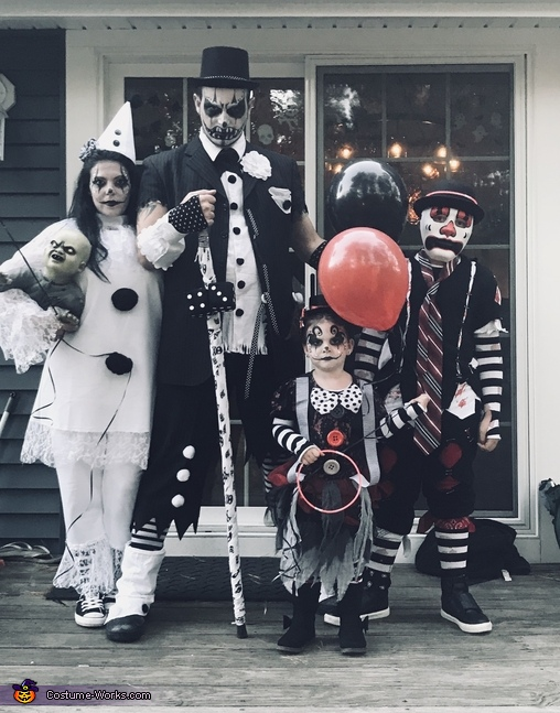 Gothic Clown Family Homemade Costume