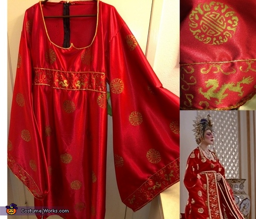 Dress detail compared to original, Gracie Law - Big Trouble in Little China Costume