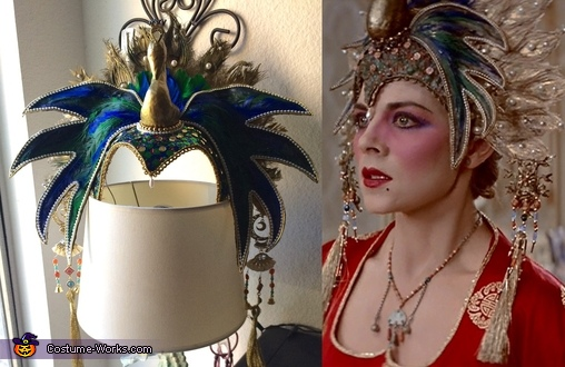 Head dress next to original, Gracie Law - Big Trouble in Little China Costume