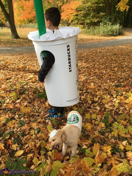 Side view Grande Frappuccino and Short Puppuccino, Grande Frappuccino and Short Puppuccino Costume